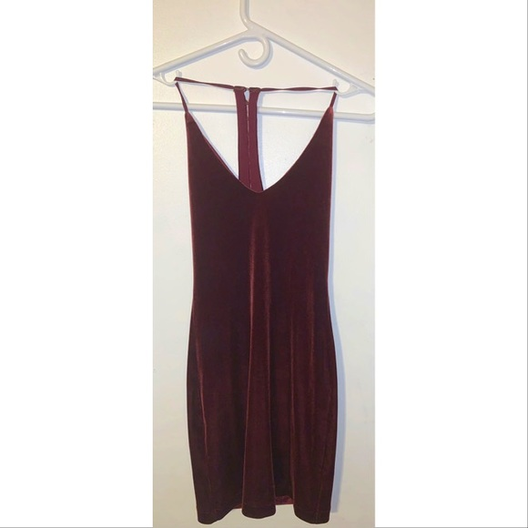 Dark Red Velour Dress
